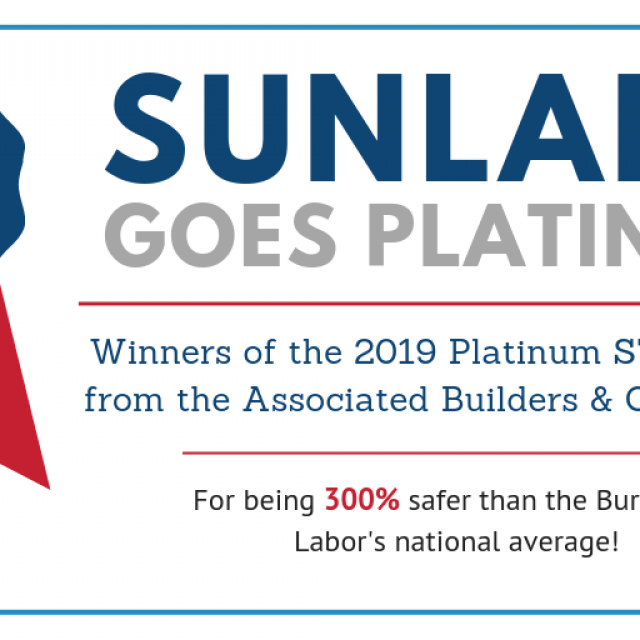 Sunland Wins 2019 Platinum STEP Award from the Associated Builders & Contractors